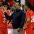 DENVER, CO. - FEBRUARY 16: Angels coach Rudy Carey made a point with guards Jevon Griffin (2) and Dominique Collier (24) in the second half. The Denver East High School boy's basketball team defeated George Washington 82-20 Saturday afternoon, February 16, 2013.  (Photo By Karl Gehring/The Denver Post)
