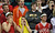 DENVER, CO. - MARCH 08: Regis High School students cheer the boys basketball team during the playoff game against Eaglecrest Highschool at Denver Coliseum. March 8, 2013. Denver, Colorado. Eaglecrest won 64-57. (Photo By Hyoung Chang/The Denver Post)
