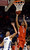 DENVER, CO. - FEBRUARY 09: Jevon Griffin (2) of East goes up for a shot past Zach Braxton of  Highlands Ranch during the first quarter February 9, 2012 at Magness Arena. (Photo By John Leyba/The Denver Post)