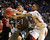 BOULDER, CO. - MARCH 15: Angels guard Dominque Collier, right, reached for a pass intended for Legend senior Jonathon Cosmann (23) in the second half. The East High School boy's basketball team defeated Legend 58-45 Friday night, March 15, 2013 at the Coors Events Center in a 5A semifinal playoff game.  (Photo By Karl Gehring/The Denver Post)
