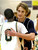 Buffaloes junior guard Andre Hilson (0) congratulated Sun Devils junior forward Michael Hanley (35) on the win Tuesday night. The Kent Denver High School boy's basketball team defeated Bishop Machebeuf 77-75 Tuesday night, January 15, 2013. Karl Gehring/The Denver Post