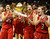 BOULDER, CO. - MARCH 16: The Raiders celebrated with the trophy. The Regis Jesuit High School girl's basketball team defeated Highlands Ranch 53-46 in the 5A championship game Saturday, March 16, 2013 at the Coors Events Center in Boulder.  (Photo By Karl Gehring/The Denver Post)