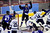 DENVER, CO. - FEBRUARY 28: Cougars defenseman Russell Pavsek (2) celebrated his tip-in goal on a power play in the second period. Ralston Valley High School took on Resurrection Christian Thursday night, February 28, 2013 in a semifinal match in the Colorado State Ice Hockey Championships at Magness Arena in Denver. (Photo By Karl Gehring/The Denver Post)