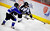 DENVER, CO. - FEBRUARY 28: Cougars defenseman Paul Sartuche (22) and Mustangs forward Darius Maes (53) went to the boards for a puck in the second period. Ralston Valley High School took on Resurrection Christian Thursday night, February 28, 2013 in a semifinal match in the Colorado State Ice Hockey Championships at Magness Arena in Denver. (Photo By Karl Gehring/The Denver Post)