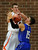 Rangers forward Justin Smith (24) battled for the ball with Broomfield guard Evan Kihn (15) in the second half. The Lewis-Palmer High School boy's basketball team defeated Broomfield 75-53 Friday night, December 7, 2012.  Karl Gehring/The Denver Post