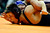 DENVER, CO - FEBRUARY 21: Fruita 120-pounder Ian Konrad works a wing on top of Mountain Range's Zach Martinez during the Colorado State High School Wrestling Championships. The state finals will run through Saturday evening at the Pepsi Center. (Photo by AAron Ontiveroz/The Denver Post)