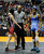 DENVER, CO. - FEBRUARY 21: Grand Valley wrestler cody Pfau, left, got the win against Fort Lupton's Ferdinando Martinez, right, in a preliminary bout in the class 3A, 106-pound weight division. The CHSAA State Wrestling Tournament kicked off Thursday, February 21, 2013 at the Pepsi Center in Denver. (Photo By Karl Gehring/The Denver Post)