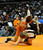 DENVER, CO. - FEBRUARY 21: Burlington wrestler Gaston Hornung flipped Yuma's Luke Brown in a 132-pound weight division in class 2A. The CHSAA State Wrestling Tournament kicked off Thursday, February 21, 2013 at the Pepsi Center in Denver.   (Photo By Karl Gehring/The Denver Post)