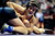 DENVER, CO - FEBRUARY 21: Basalt 126-pounder Hector Chagoya controls CS Christian's Brian Follett during the Colorado State High School Wrestling Championships. The state finals will run through Saturday evening at the Pepsi Center. (Photo by AAron Ontiveroz/The Denver Post)