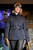 Nobis navy Jillian jacket  with a cocoa fur trapper hat,  as the SIA Snow Show hosted its 2013 Snow Fashion & Trends Show at the Colorado Convention Center  in downtown Denver  on Wednesday, January 30, 2013.  (Photo By Cyrus McCrimmon / The Denver Post)
