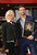 Actor Hugh Jackman and his wife Deborra-Lee Furness pose as Hugh Jackman is honored with a star on The Hollywood Walk Of Fame on December 13, 2012 in Hollywood, California.  (Photo by Jason Merritt/Getty Images)