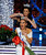 Miss America 2012 Laura Kaeppeler crowns Mallory Hytes Hagan of New York the new Miss America during the 2013 Miss America Pageant at PH Live at Planet Hollywood Resort & Casino on January 12, 2013 in Las Vegas, Nevada.  (Photo by David Becker/Getty Images)