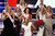 Contestants rush to congratulate Miss New York Mallory Hytes Hagan (C), 23, after she was crowned Miss America 2013 during the Miss America Pageant in Las Vegas January 12, 2013. REUTERS/Steve Marcus