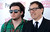 Screenwriter David O. Russell (R) talks with his son Matthew Antonio Grillo Russell as they arrive at the 2013 Film Independent Spirit Awards in Santa Monica, California February 23, 2013. Russell won the best screenplay award for 