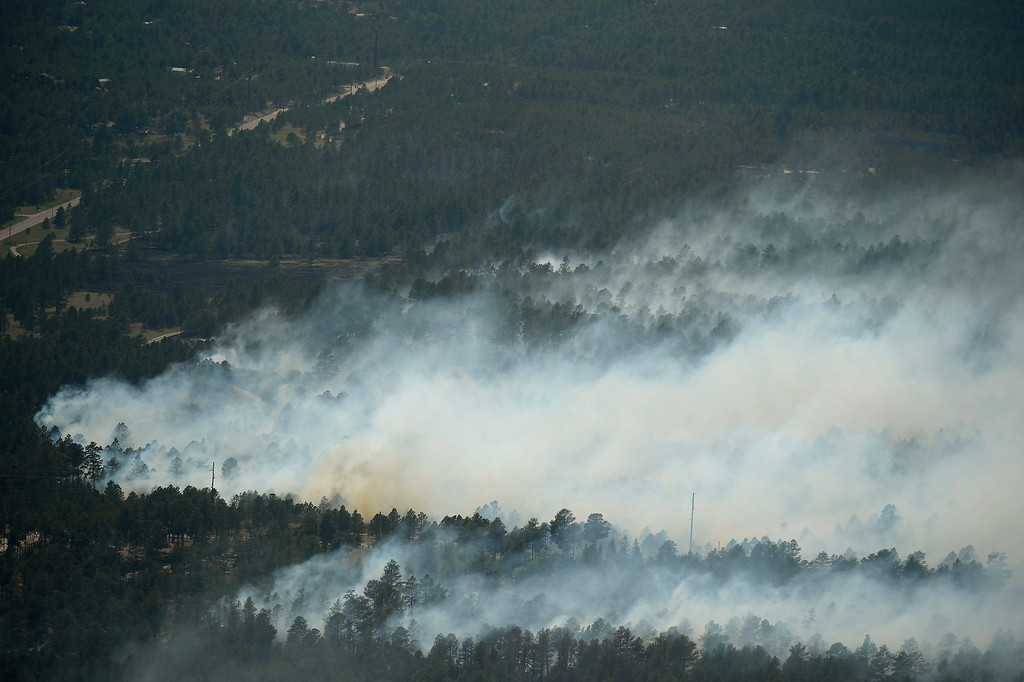 Description of . COLORADO SPRINGS, CO. - June 13: Damage from the east edge of the Black Forest Fire Colorado Springs, Colorado. June 13, 2013. (Photo By Joe Amon/The Denver Post)