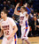 Boise State's Jeff Elorriaga reacts after hitting a 3-pointer against Air Force during the first half of their NCAA college basketball game, Wednesday, Feb. 20, 2013, in Boise, Idaho. Boise State won 77-65. (AP Photo/The Idaho Statesman, Joe Jaszewski)  LOCAL TV OUT