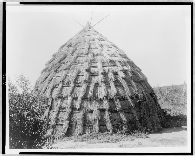 Description of  Title: Wichita grass-house.  <br />Date Created/Published: c1927.  <br />Photograph by Edward S. Curtis, Curtis (Edward S.) Collection, Library of Congress Prints and Photographs Division Washington, D.C.
