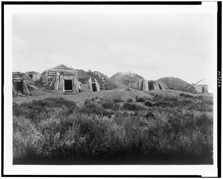 Description of  Title: [Hooper Bay homes, Hooper Bay, Alaska].  <br />Date Created/Published: c1929.  <br />Photograph by Edward S. Curtis, Curtis (Edward S.) Collection, Library of Congress Prints and Photographs Division Washington, D.C.
