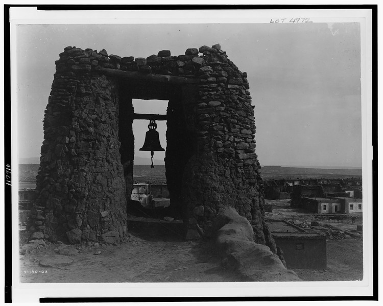 Description of  Title: Acoma belfry.  <br />Date Created/Published: c1905.  <br />Photograph by Edward S. Curtis, Curtis (Edward S.) Collection, Library of Congress Prints and Photographs Division Washington, D.C.