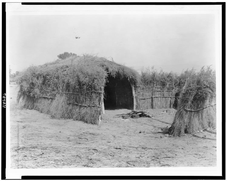 Description of  Title: [Cahuilla house in the desert, California].  <br />Date Created/Published: c1924.  <br />Photograph by Edward S. Curtis, Curtis (Edward S.) Collection, Library of Congress Prints and Photographs Division Washington, D.C.