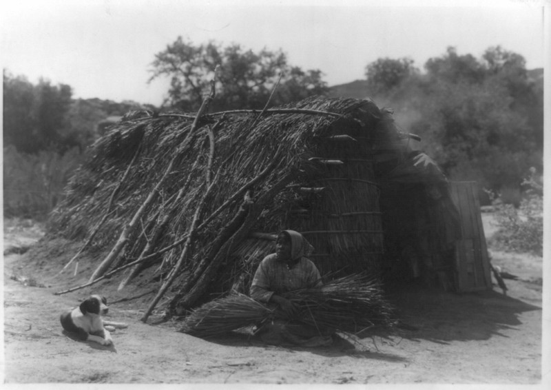 Description of  Title: Diegueño house at Campo.  <br />Date Created/Published: c1924.  <br />Summary: Hut, Campo, California.  <br />Photograph by Edward S. Curtis, Curtis (Edward S.) Collection, Library of Congress Prints and Photographs Division Washington, D.C.