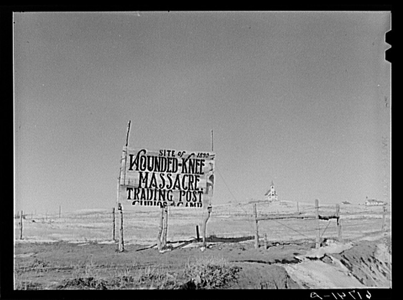 Description of  Church at Wounded Knee, South Dakota. Nov. 1940. Vachon, John, 1914-1975, photographer. <br />(Library of Congress Prints and Photographs Division)
