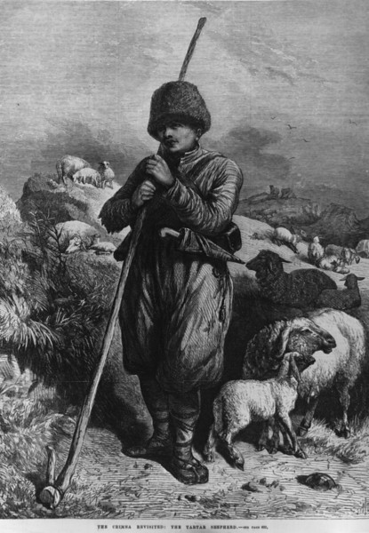 Description of  19th June 1869:  A Tartar shepherd-boy in the Crimea.  (Photo by Hulton Archive/Getty Images)