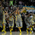 Baylor Bears teammates lead by Ashley Field (24) clear the bench after defeating Notre Dame 80-61 in NCAA Women's 2012 National Championship action at the Pepsi Center in Denver, CO Tuesday April 3, 2012.  John Leyba/The Denver Post