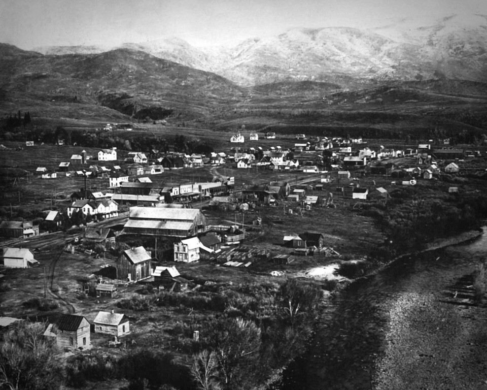 . Steamboat Springs, Colorado in 1906. The main street is now U.S. 40. (From the Denver Post Archive)