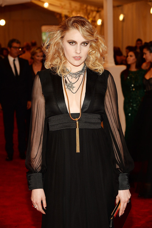 Description of . Greta Gerwig attends the Costume Institute Gala for the