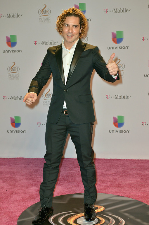 Description of . David Bisbal arrives at the 25th Anniversary Of Univision's