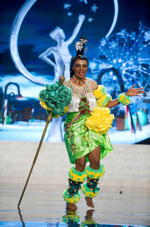 Description of . Miss Nigeria Isabella Agbor Ojong Ayuk performs onstage at the 2012 Miss Universe National Costume Show at PH Live in Las Vegas, Nevada December 14, 2012. The 89 Miss Universe Contestants will compete for the Diamond Nexus Crown on December 19, 2012. REUTERS/Darren Decker/Miss Universe Organization/Handout
