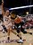 Colorado 's Arielle Roberson (32) dribbles past Stanford 's Joslyn Tinkle (44) during the first half of an NCAA college basketball game in Stanford, Calif., Sunday, Jan. 27, 2013. (AP Photo/Marcio Jose Sanchez)