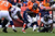 Denver Broncos running back Ronnie Hillman (21) runs up the middle for a short gain  in the second quarter. The Denver Broncos vs Baltimore Ravens AFC Divisional playoff game at Sports Authority Field Saturday January 12, 2013. (Photo by AAron  Ontiveroz,/The Denver Post)