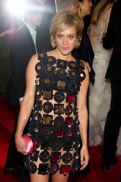 Description of . Chloe Sevigny arrives at the Metropolitan Museum of Art Costume Institute gala benefit, celebrating Elsa Schiaparelli and Miuccia Prada, Monday, May 7, 2012 in New York. (AP Photo/Charles Sykes)