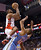 Toronto Raptors' Alan Anderson shoots over Denver Nuggets' Anthny Randolph during the second half of an NBA basketball game in Toronto on Tuesday, Feb. 12, 2013. (AP Photo/The Canadian Press, Chris Young)