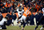 Baltimore Ravens kicker Justin Tucker (9) kicks the winning field goal.  The Baltimore Ravens beat the Denver Broncos 38 to 35.  The Denver Broncos vs Baltimore Ravens AFC Divisional playoff game at Sports Authority Field Saturday January 12, 2013. (Photo by Hyoung Chang,/The Denver Post)