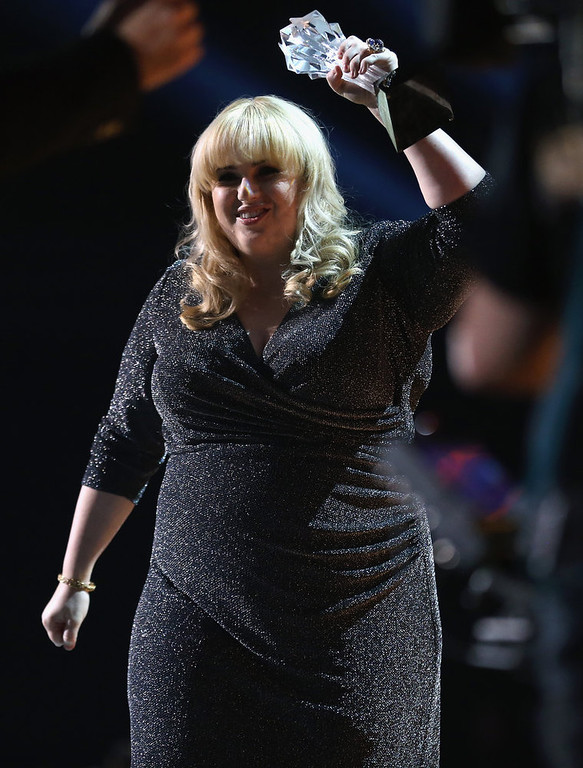Description of . Presenter Rebel Wilson onstage at the 18th Annual Critics' Choice Movie Awards held at Barker Hangar on January 10, 2013 in Santa Monica, California.  (Photo by Christopher Polk/Getty Images for BFCA)