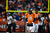 Denver Broncos quarterback Peyton Manning (18) waits for a referee call on the field in the third quarter. The Denver Broncos vs Baltimore Ravens AFC Divisional playoff game at Sports Authority Field Saturday January 12, 2013. (Photo by Joe Amon,/The Denver Post)