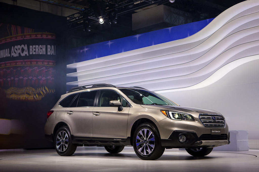 Description of . The 2015 Subaru Outback is unveiled during a media preview of the 2014 New York International Auto Show in New York. The show opens with a sneak preview to the public April 18th and runs through April 27th. (Photo by Eric Thayer/Getty Images)