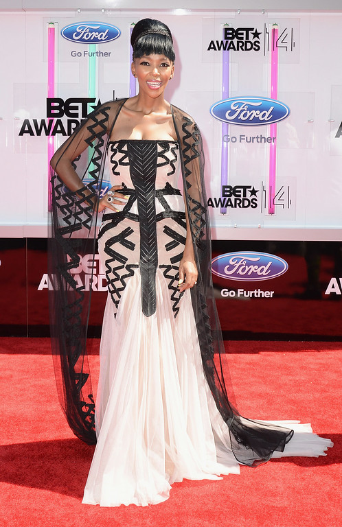 Description of . Singer Nhlanhla Nciza of Mafikizolo attends the BET AWARDS '14 at Nokia Theatre L.A. LIVE on June 29, 2014 in Los Angeles, California.  (Photo by Earl Gibson III/Getty Images for BET)