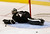 Dallas Stars goaltender Cristopher Nilstorp lies on the ice after giving up a goal to Vancouver Canucks Henrik Sedin during the third period of their NHL hockey game in Dallas, Texas February 21, 2013.  REUTERS/Mike Stone