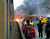 A general view of the scene shortly after a helicopter crashed in the Vauxhall area of central London, after hitting a crane on top of a tower block by the River Thames, according to eye witness reports, Wednesday Jan. 16, 2013. (AP Photo / Toby Scott, PA)