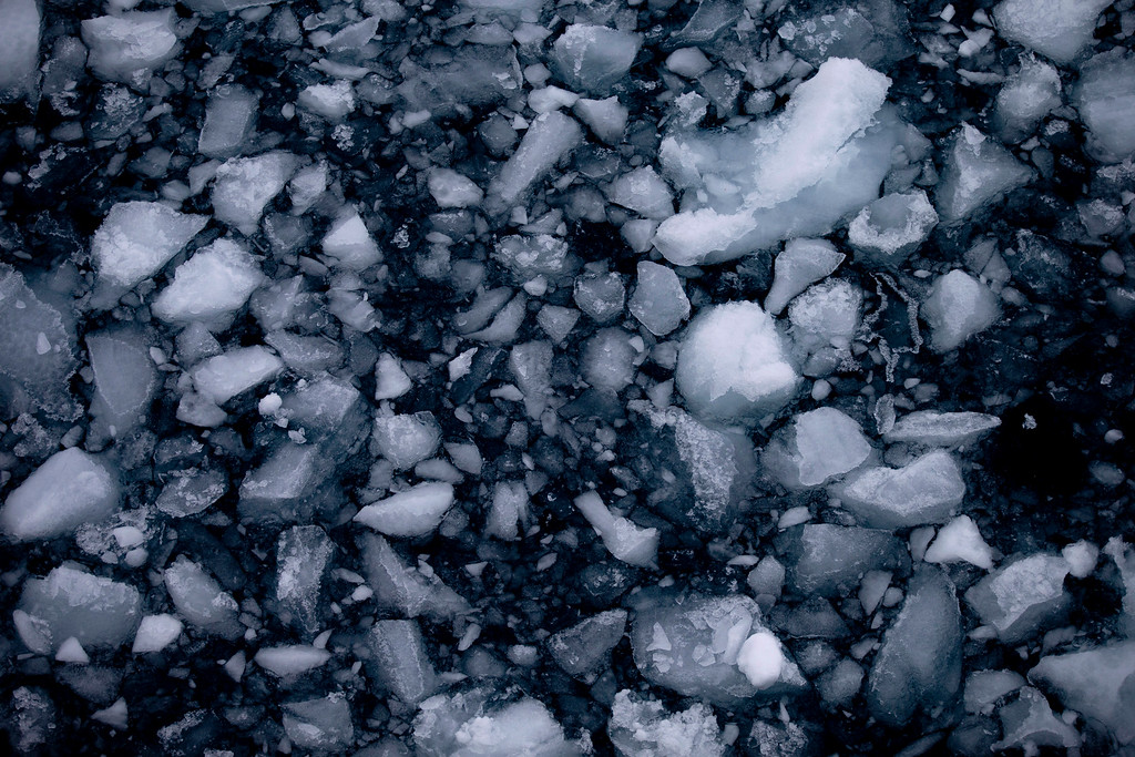 Description of . In this Jan. 22, 2015 photo, ice floats in the Bellingshausen Sea near Chile's O'Higgins station in Antarctica. The ice in Antarctica tells how levels of carbon dioxide, the heat-trapping gas, have fluctuated over hundreds of thousands of years. (AP Photo/Natacha Pisarenko)