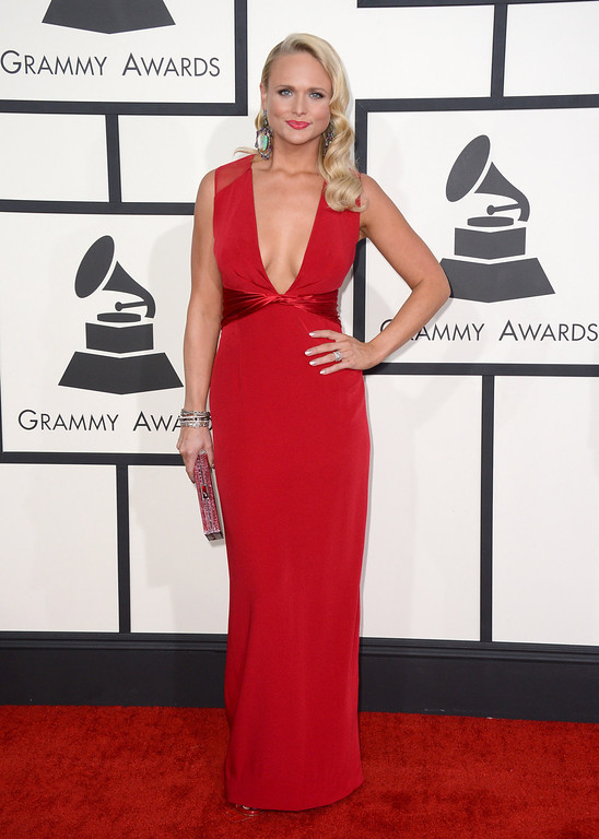 Description of . Miranda Lambert arrives at the 56th annual Grammy Awards at Staples Center on Sunday, Jan. 26, 2014, in Los Angeles. (Photo by Jordan Strauss/Invision/AP)
