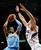 Andre Iguodala #9 of the Denver Nuggets drives against Zaza Pachulia #27 of the Atlanta Hawks at Philips Arena on December 5, 2012 in Atlanta, Georgia.  (Photo by Kevin C. Cox/Getty Images)