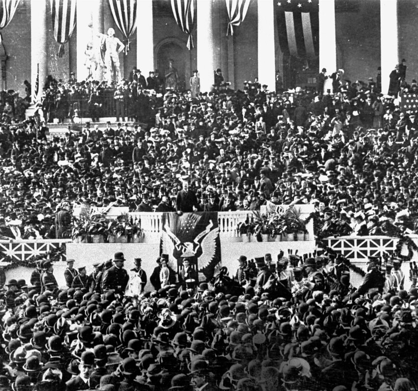 Description of . The inauguration of President Theodore Roosevelt, 1905. (AP Photo)