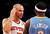 New York Knicks point guard Jason Kidd points to a bump on his head to Denver Nuggets point guard Ty Lawson who caused the bump with a hard foul earlier in the game at the start of the third quarter of their NBA basketball game at Madison Square Garden in New York, December 9, 2012.  REUTERS/Adam Hunger (UNITED STATES - Tags: SPORT BASKETBALL TPX IMAGES OF THE DAY)