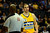 Denver Nuggets center Kosta Koufos (41) looks at the ref after fouling out during the second half of the Nuggets' 113-110 win at the Pepsi Center on Monday, December 3, 2012. AAron Ontiveroz, The Denver Post