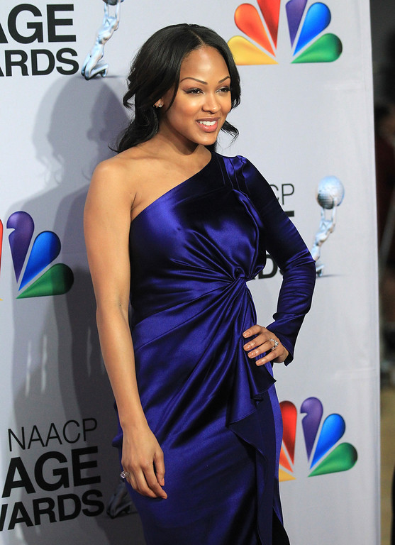 Description of . LOS ANGELES, CA - FEBRUARY 01:  Actress Meagan Good poses in the press room during the 44th NAACP Image Awards at The Shrine Auditorium on February 1, 2013 in Los Angeles, California.  (Photo by Frederick M. Brown/Getty Images for NAACP Image Awards)